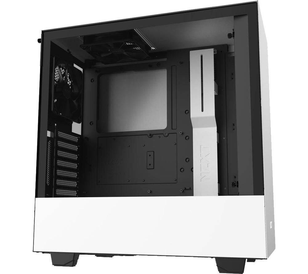 Image of NZXT H510i ATX Mid-Tower PC Case - White, White