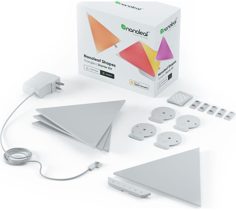 NANOLEAF Shapes Triangle Smart Lights Starter Kit - Pack of 4