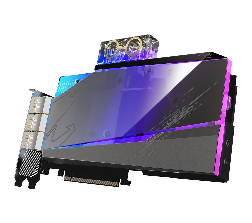 GIGABYTE GeForce RTX 3090 24 GB AORUS XTREME WATERFORCE WB Graphics Card