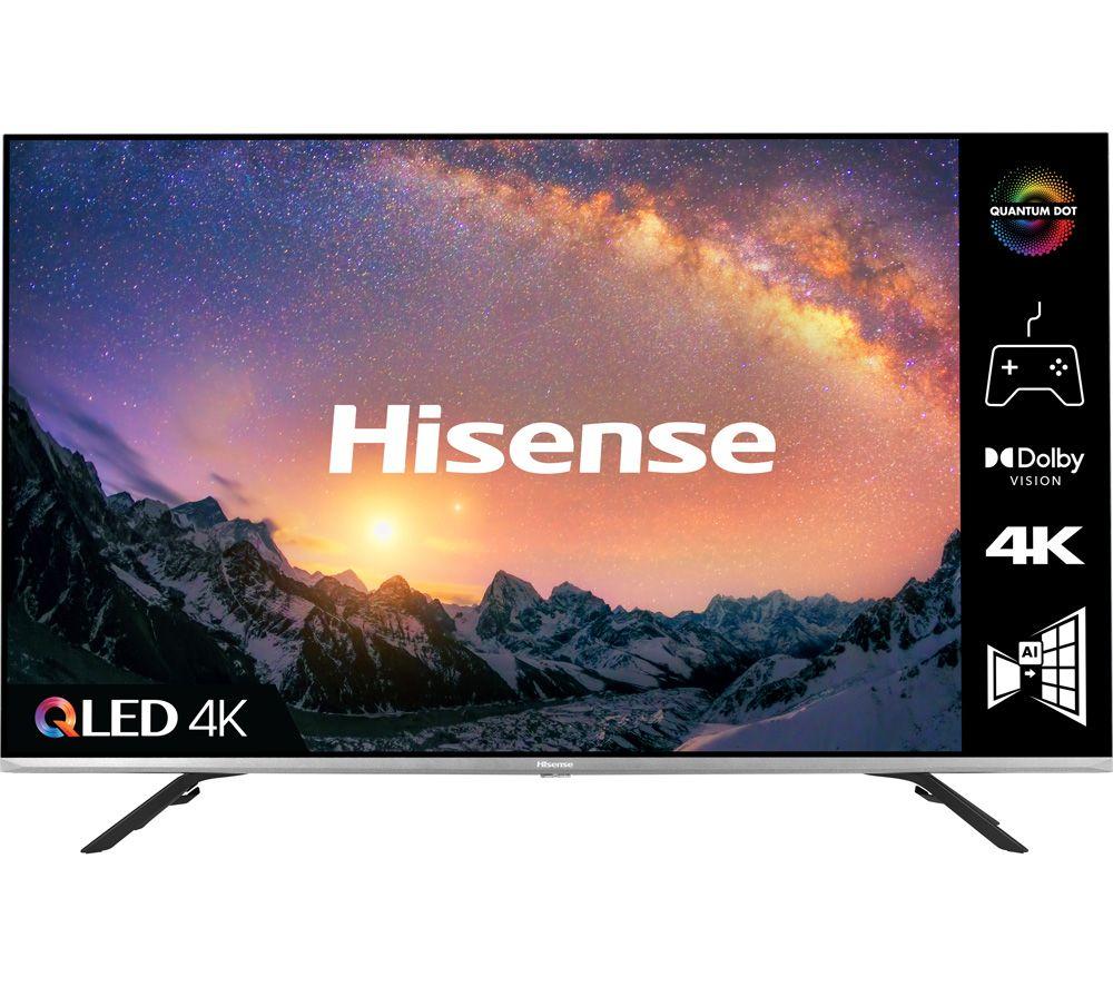 55 HISENSE 55E76GQTUK  Smart 4K Ultra HD HDR QLED TV with Google Assistant and Amazon Alexa