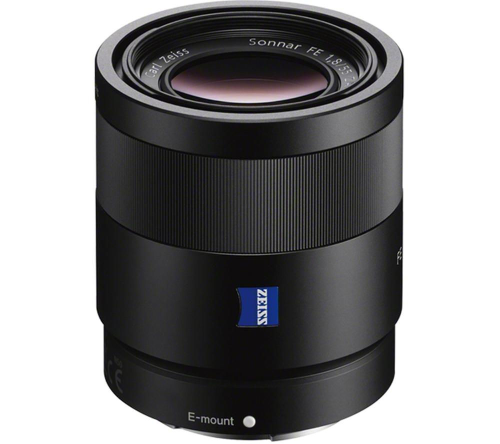 buy sony sonnar t fe 55 mm f 1 8 zeiss standard prime lens free delivery currys. Black Bedroom Furniture Sets. Home Design Ideas