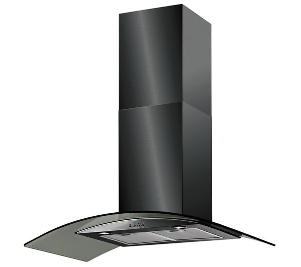 BAUMATIC BT10.3BGL Chimney Cooker Hood - Black
