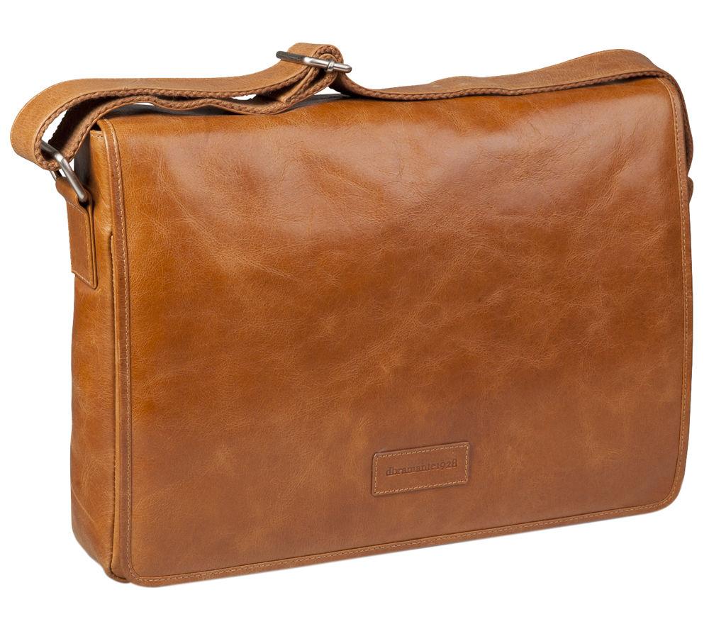 "Image of DBRAMANTE 1928 Marselisborg 14"" Leather Laptop Bag - Golden Tan, Tan"