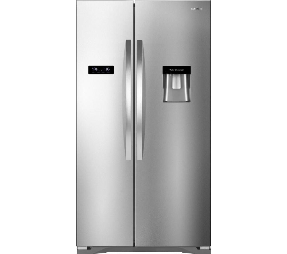 KENWOOD KSBSDX15 American-Style Fridge Freezer - Stainless Steel, Stainless Steel