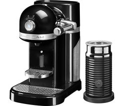 NESPRESSO by KitchenAid Artisan 5KES0504BOB Coffee Machine with Aeroccino 3 - Onyx Black