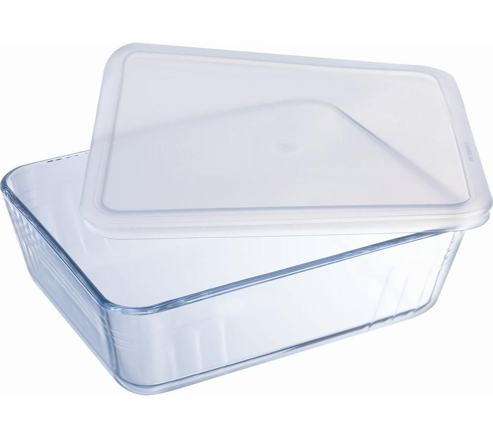 PYREX Cook & Store Classic Rectangular 0.3-litre Dish with Lid - Clear
