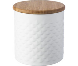 TYPHOON Imprima Scallop Round 1.4 litre Storage Tin - White