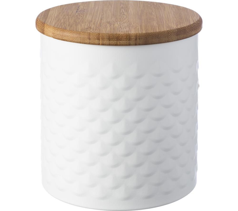 Compare prices for Typhoon Imprima Scallop Round 1.4 litre Storage Tin - White
