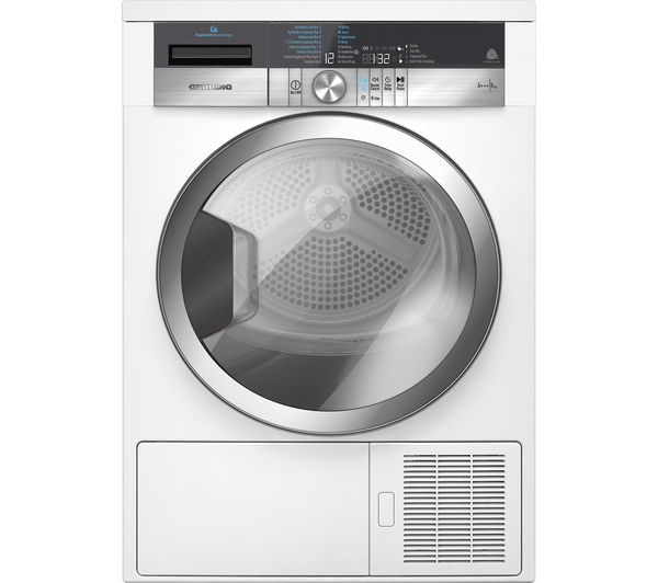 Image of GRUNDIG ExpressDry GTN38267GCW Heat Pump Tumble Dryer - White