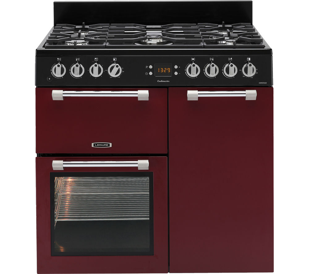 Image of LEISURE Cookmaster CK90F232R Dual Fuel Range Cooker - Red, Red