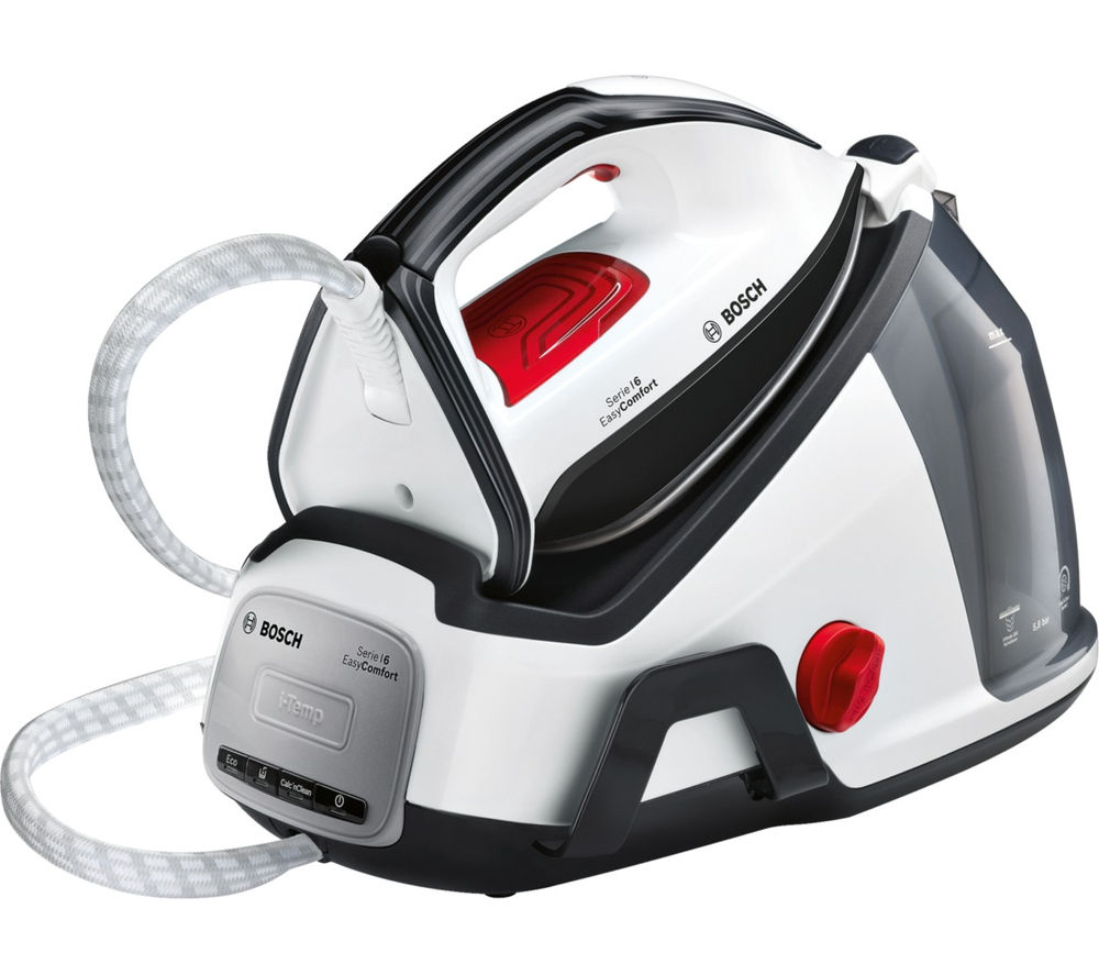 BOSCH Easy Comfort TDS6040GB Steam Generator Iron - White & Black, White