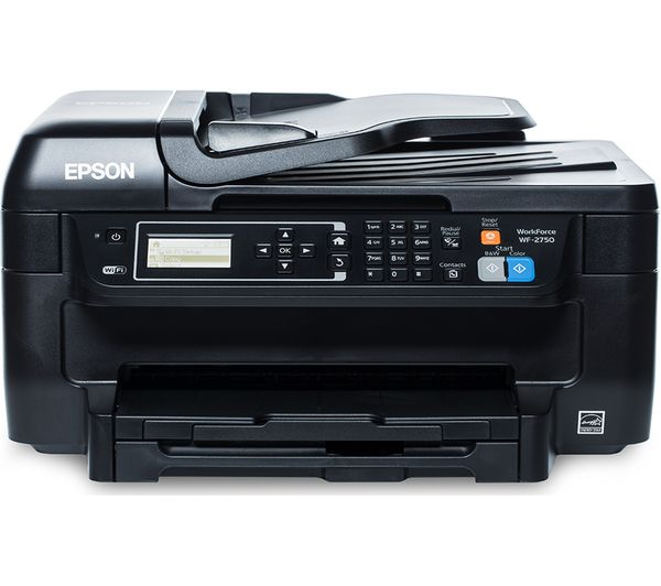 EPSON WorkForce WF-2750 All-in-One Inkjet Printer with Fax