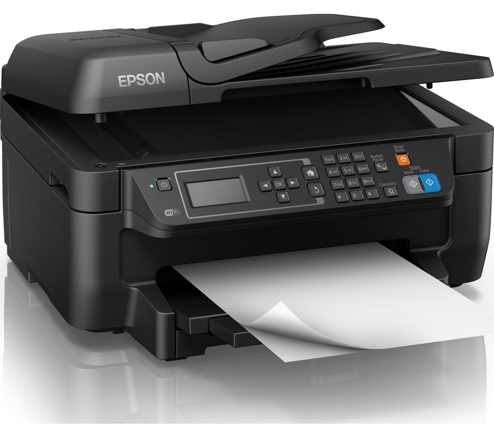 EPSON WorkForce WF-2750 All-in-One Inkjet Printer with Fax + Pen & Crossword T1626 Cyan, Magenta, Yellow & Black Ink Cartridges - Multipack