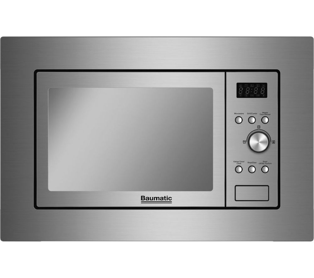 Image of BAUMATIC BMIG4625M Built-in Microwave with Grill - Stainless Steel, Stainless Steel