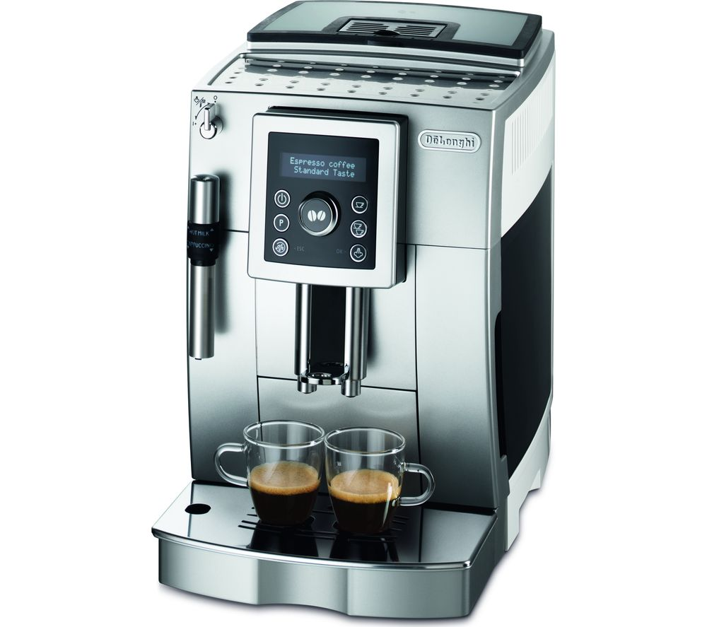 buy delonghi bean to cup coffee machine silver black white free delivery currys. Black Bedroom Furniture Sets. Home Design Ideas