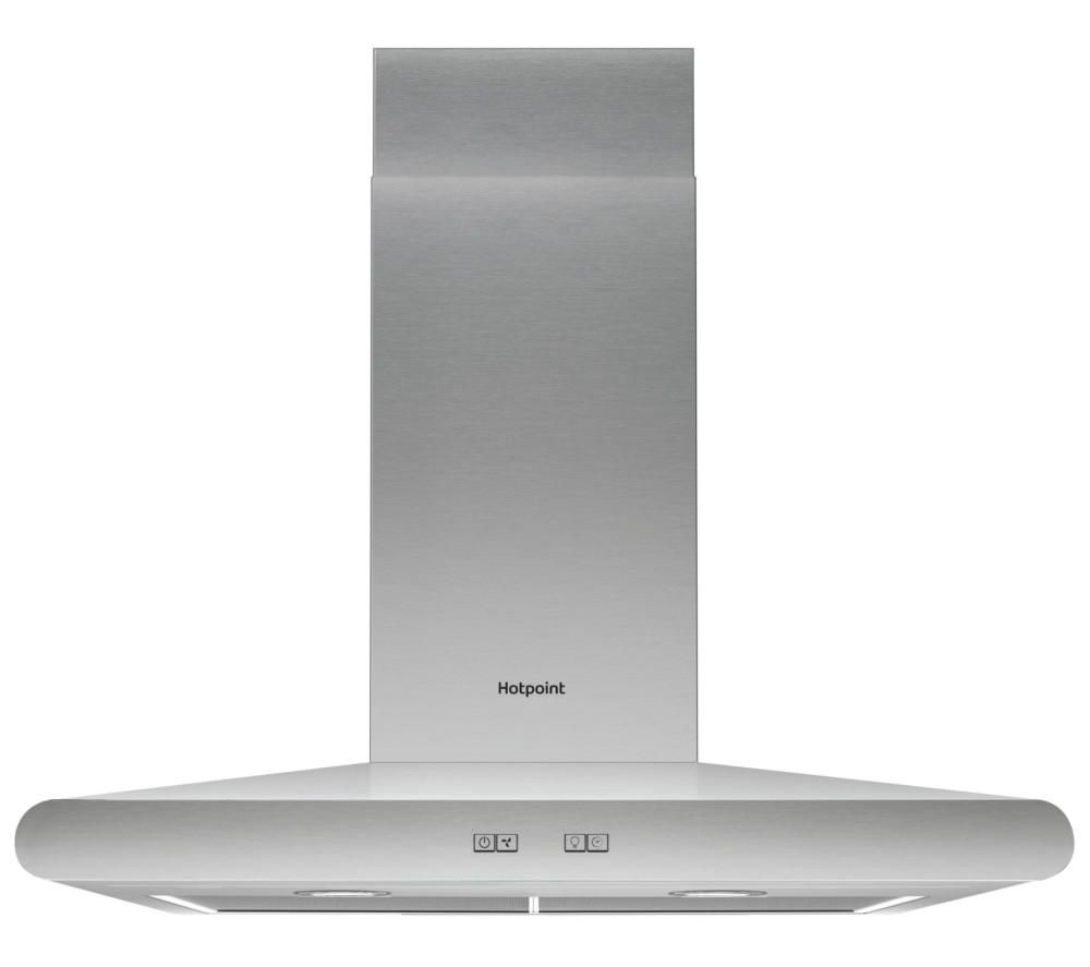 HOTPOINT PHC7.7FLBIX Chimney Cooker Hood - Stainless Steel