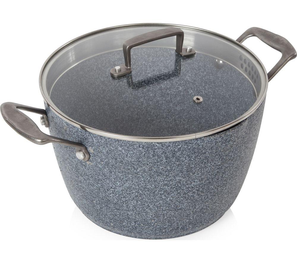 TOWER T90982 24 cm Non-stick Casserole Dish - Granite Grey