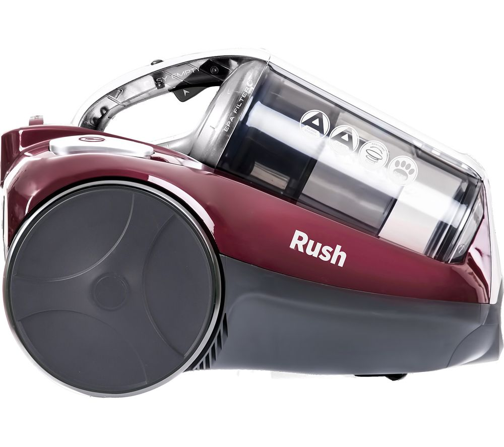 HOOVER Rush Cylinder Bagless Vacuum Cleaner - Burgandy