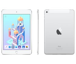 APPLE iPad mini 4 Cellular - 128 GB, Silver