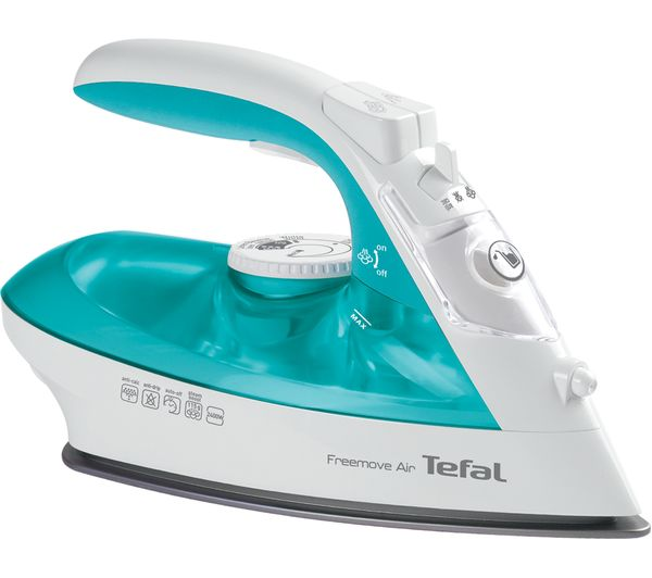 buy tefal freemove air fv6520g0 cordless steam iron blue white free delivery currys. Black Bedroom Furniture Sets. Home Design Ideas