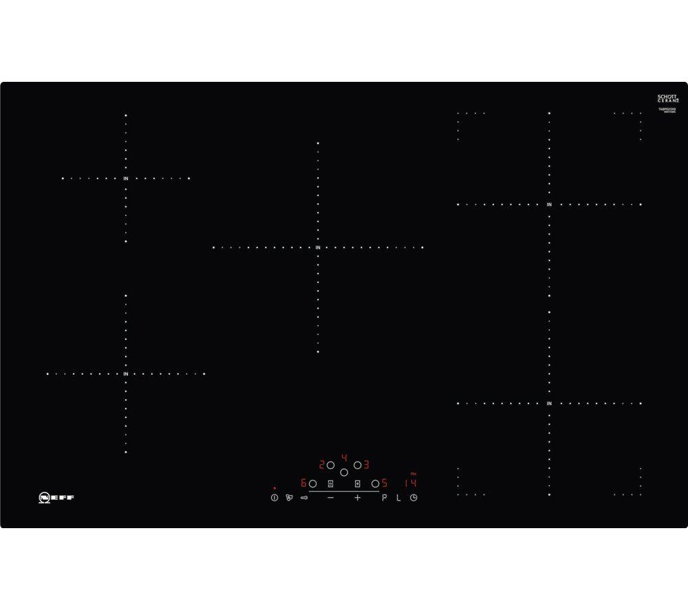 buy neff t48pd23x0 electric induction hob black free. Black Bedroom Furniture Sets. Home Design Ideas