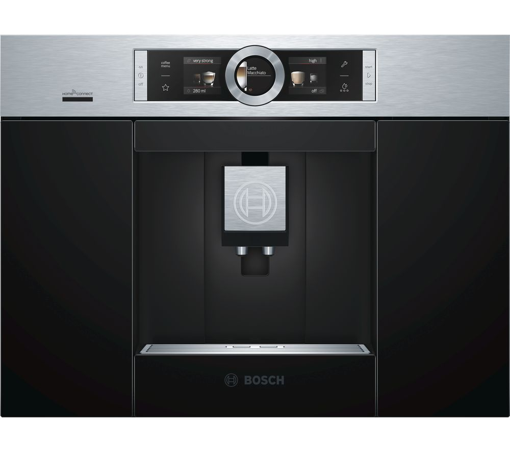 BOSCH CTL636ES6 Built-In Bean to Cup Smart Coffee Machine - Stainless Steel, Stainless Steel