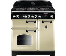 RANGEMASTER Classic CLA90DFFCR/C 90 cm Dual Fuel Range Cooker - Cream & Chrome