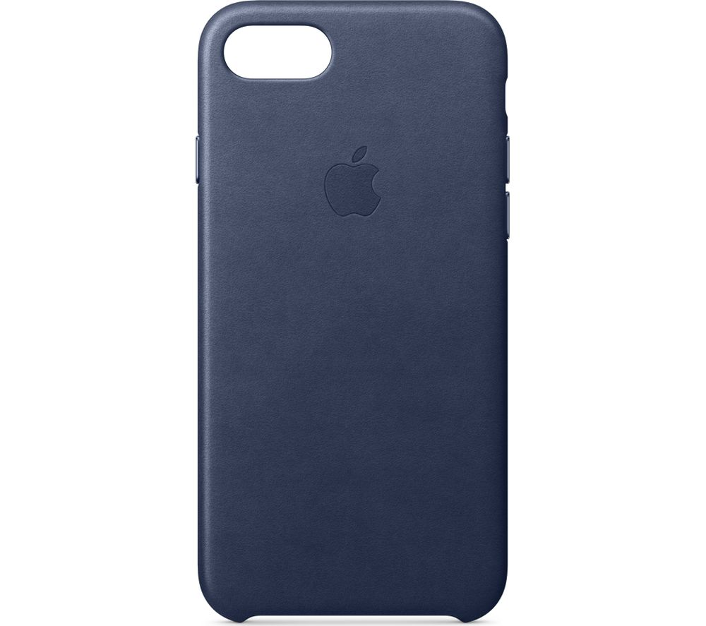 APPLE iPhone 8 & 7 Leather Case - Midnight Blue, Blue cheapest retail price