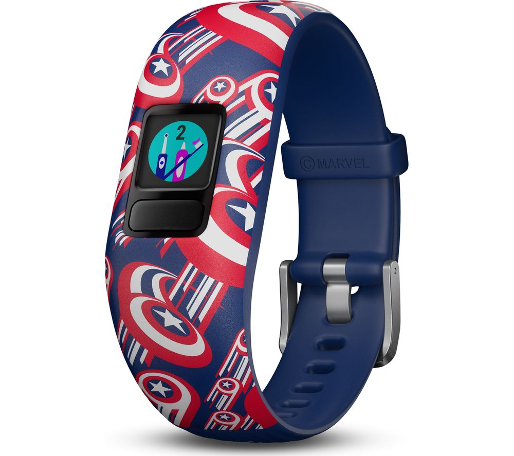 GARMIN vivofit jr. 2 Kid's Activity Tracker - Captain America, Adjustable Band