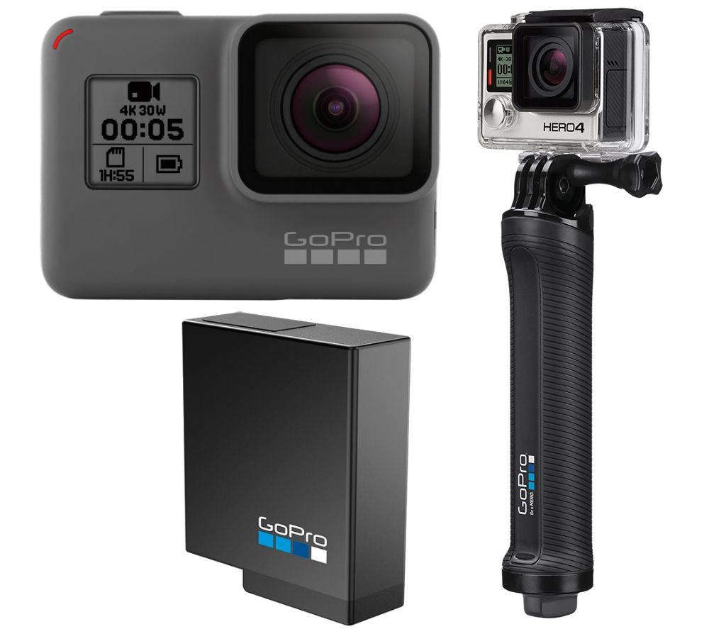 GOPRO HERO5 Action Camera, Battery & Mount Bundle