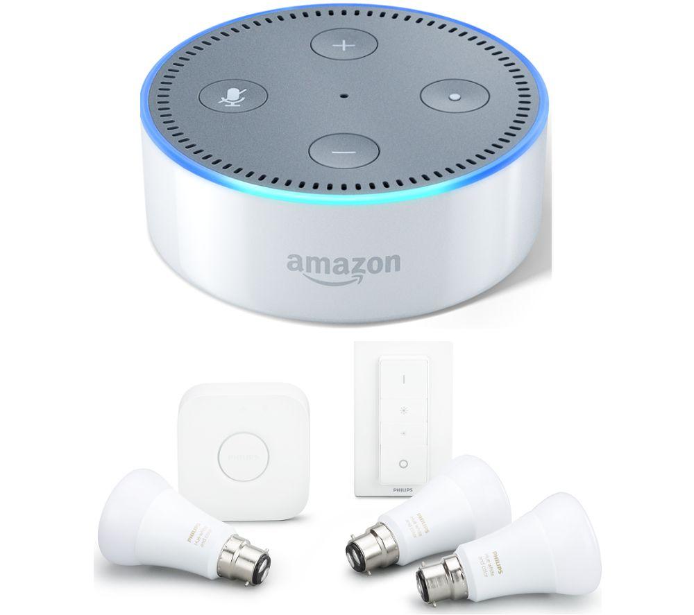 AMAZON Echo Dot & Hue A60 Starter Kit Bundle