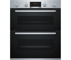 Serie 4 NBS533BS0B Electric Built-under Double Oven - Stainless Steel