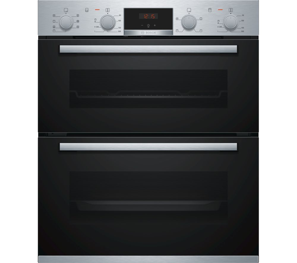BOSCH Serie 4 NBS533BS0B Electric Built-under Double Oven - Stainless Steel
