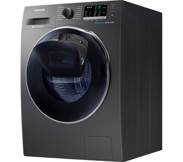 buy samsung addwash wd80k5b10ox 8 kg washer dryer graphite free delivery currys. Black Bedroom Furniture Sets. Home Design Ideas