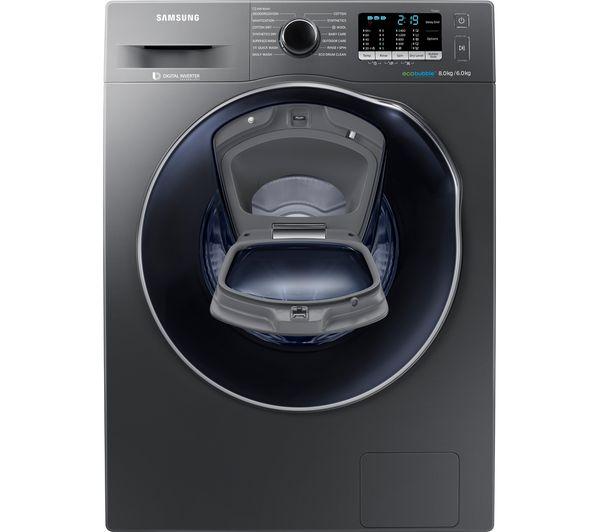 Buy Samsung Addwash Wd80k5b10ox 8 Kg Washer Dryer