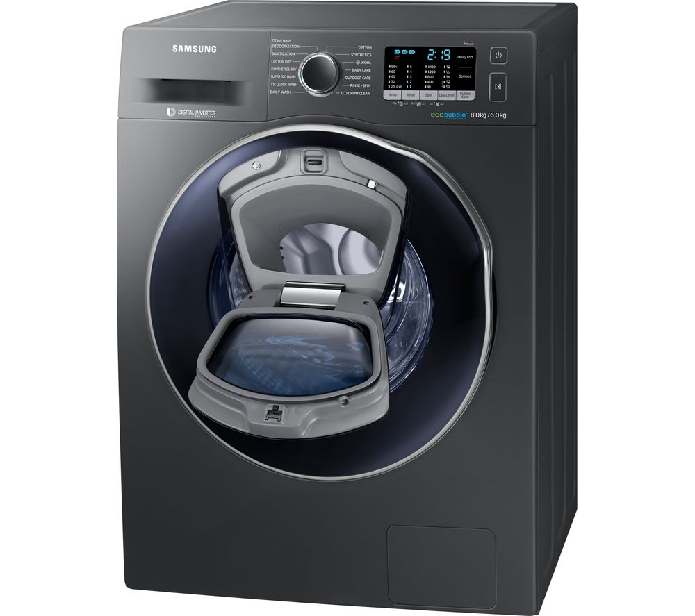Samsung Washer Dryer ecobubble WD80K5B10OX 8 kg  - Graphite