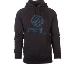 ESL Stitched Hoodie - Medium, Black & Blue