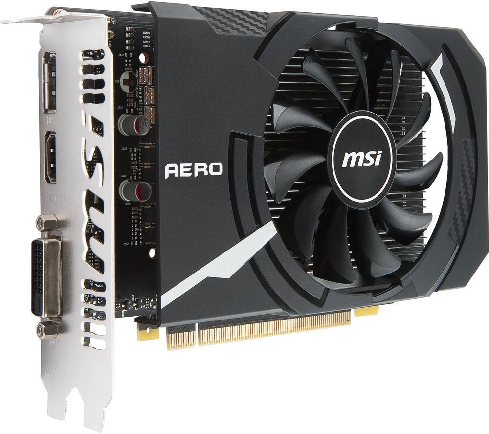 MSI GeForce GTX 1050 2 GB AERO ITX OC Graphics Card