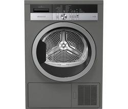 GRUNDIG GTN38250MGCG 8 kg Heat Pump Tumble Dryer - Graphite