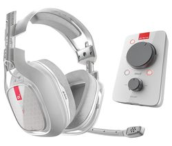 ASTRO A40TR Gaming Headset & MixAmp Pro TR Headset Amplifier - White