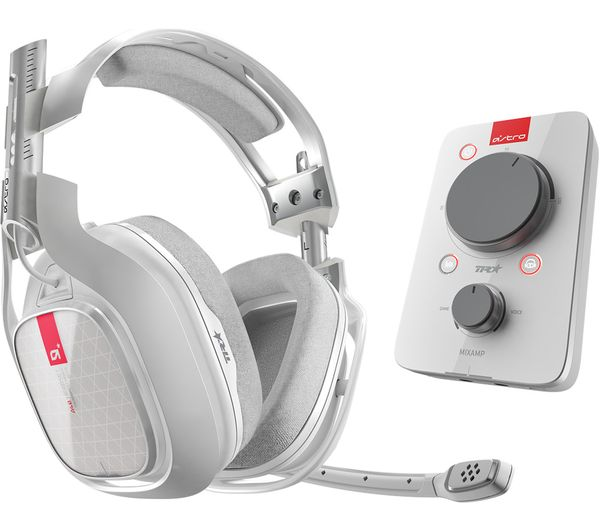 Image of ASTRO A40TR Gaming Headset & MixAmp Pro TR Headset Amplifier - White