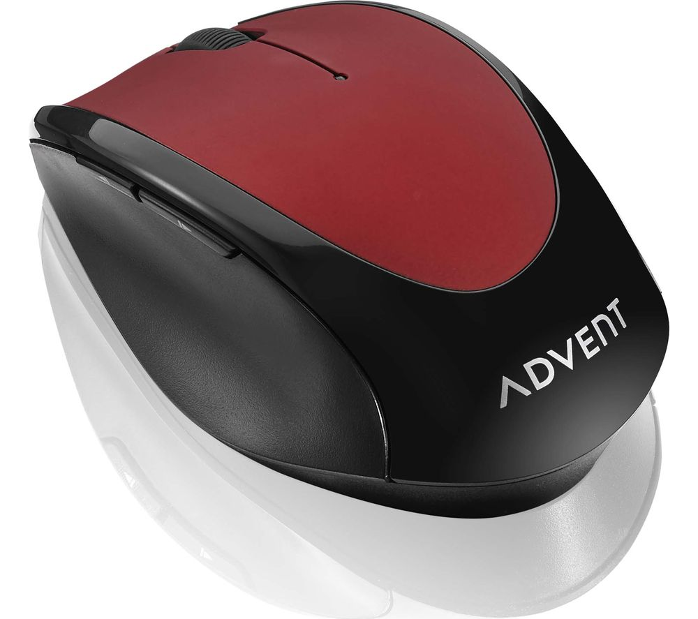 Image of ADVENT AMWLRD19 Wireless Optical Mouse - Red & Black, Red