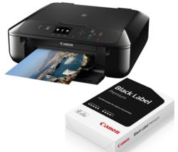 CANON PIXMA MG5750 All-in-One Wireless Inkjet Printer & A4 Premium Black Label Paper Bundle