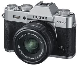 X-T30 Mirrorless Camera with FUJINON XC 15-45 mm f/3.5-5.6 OIS PZ Lens - Silver