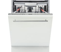 SHARP QW-GD54R443X-EN Full-size Fully Integrated Dishwasher