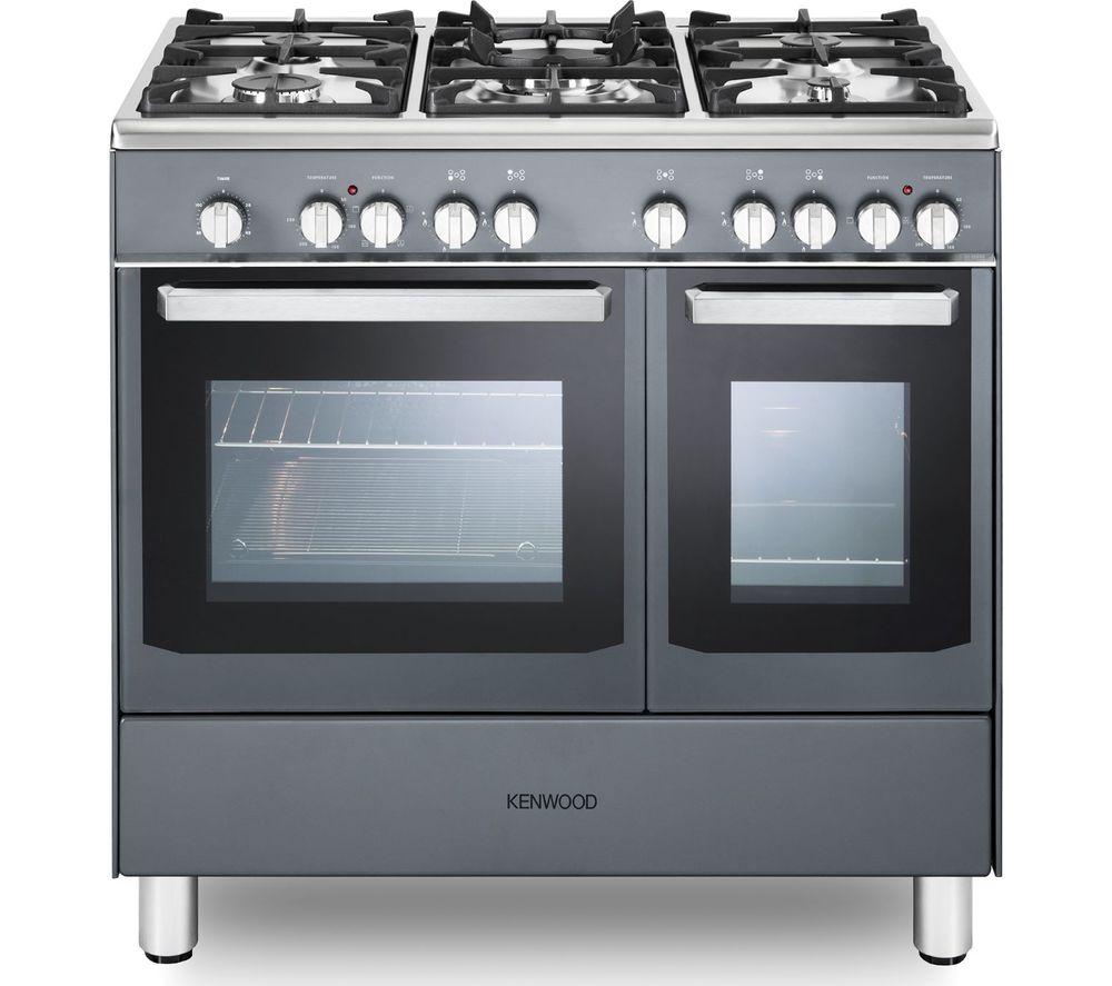 Image of CK406SL 90 cm Dual Fuel Range Cooker - Slate Grey & Chrome, Grey