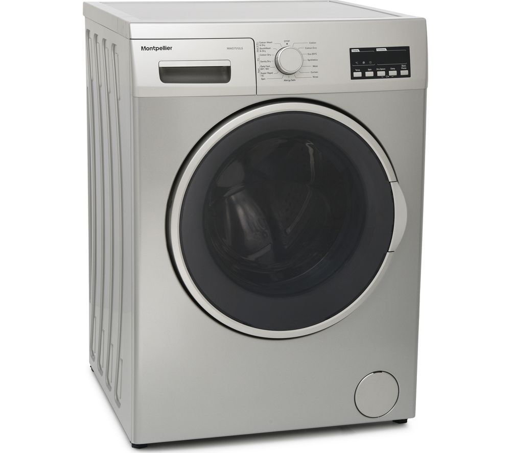 MONTPELLIER MWD7512LS 7 kg Washer Dryer - Silver, Silver