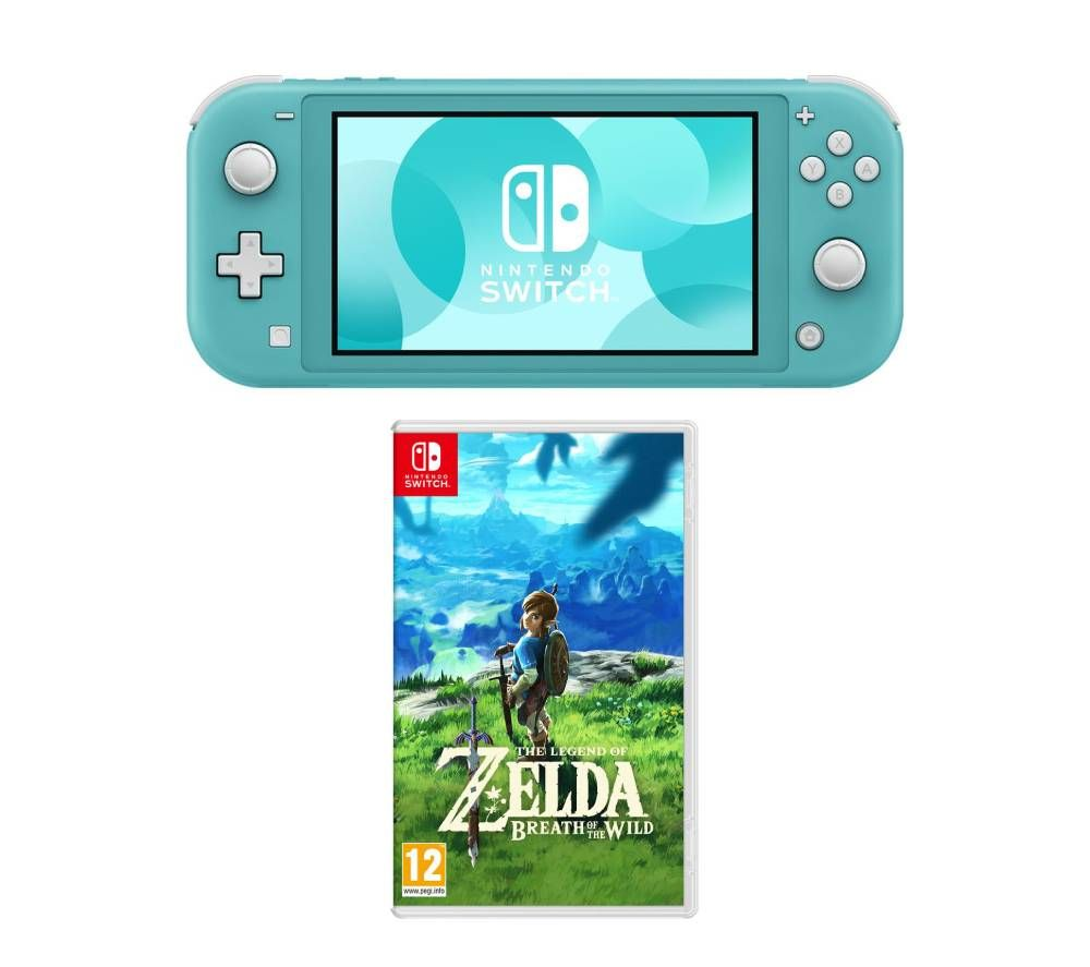 NINTENDO Switch Lite & The Legend of Zelda: Breath of the Wild Bundle - Turquoise