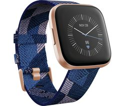 Versa 2 Special Edition with Amazon Alexa - Woven Strap, Navy & Pink