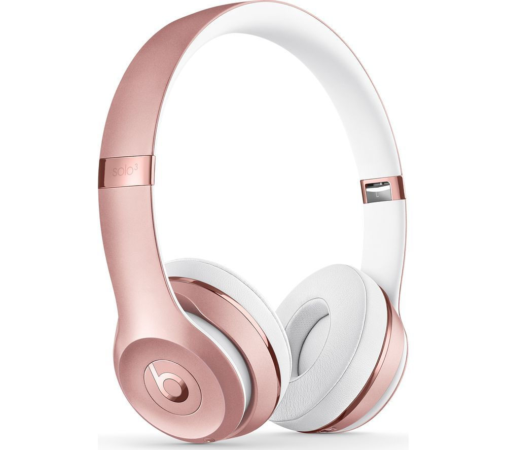 BEATS Solo 3 Wireless Bluetooth Headphones - Rose Gold